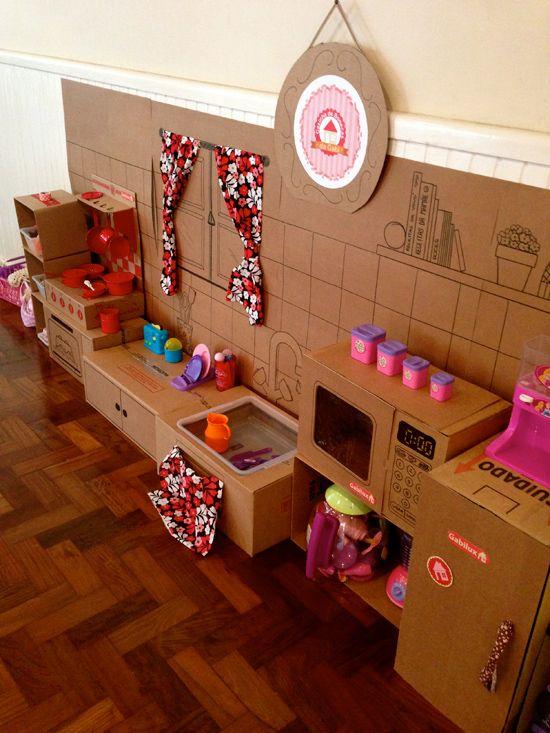Festa infantil Casa de bonecas #DIY wwwnmagazinecombr  Festas infantis  -> Como Fazer Pia De Banheiro De Boneca