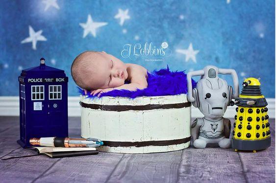 Ce futur Doctor Who:   22 nouveaux-nés merveilleusement geek