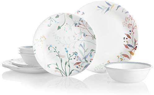 Amazon Com Corelle Boutique Monteverde 12 Piece Dinnerware Set