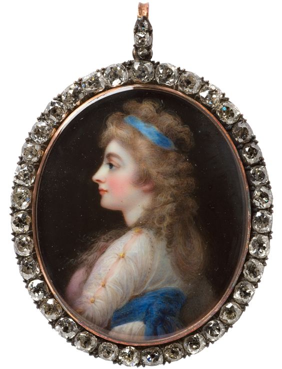 Portrait miniature of Georgiana, Duchess of Devonshire, by Horace Hone, London, 1812.  from the Rosalinde & Arthur Gilbert Collection  V&A M...