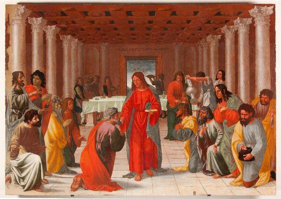 Cola dell'Amatrice, Istituzione dell'Eucarestia, 1519. Ascoli Piceno, Pinacoteca Civica. Tavola, cm 280 x 315