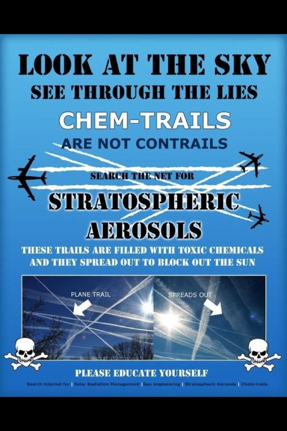 Chem-trails Shamefully, I see them daily!