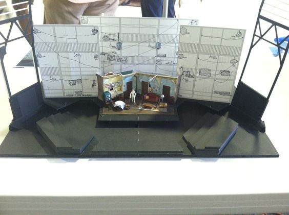 A model of the set for A Raisin in the Sun, from Scenic Designer Dede Ayite. Can you envision it at the Bruns?
