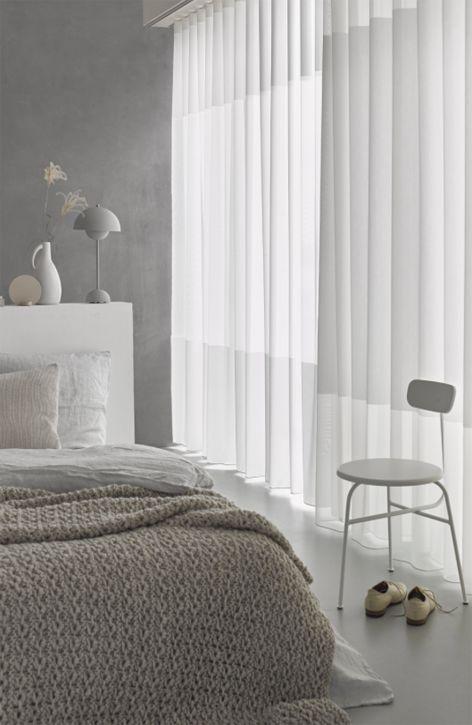 mooi in de slaapkamer transparante gordijnen met een wave of een, Deco ideeën