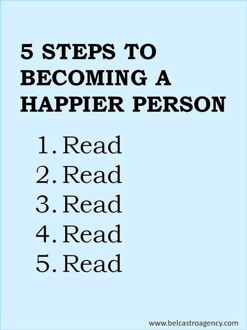 5 Steps to Becoming a Happier Person | books, reading, quotes