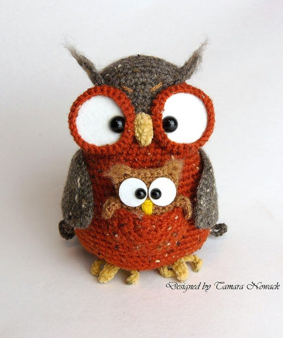 Owl crochet patterns, Note and Awesome on Pinterest