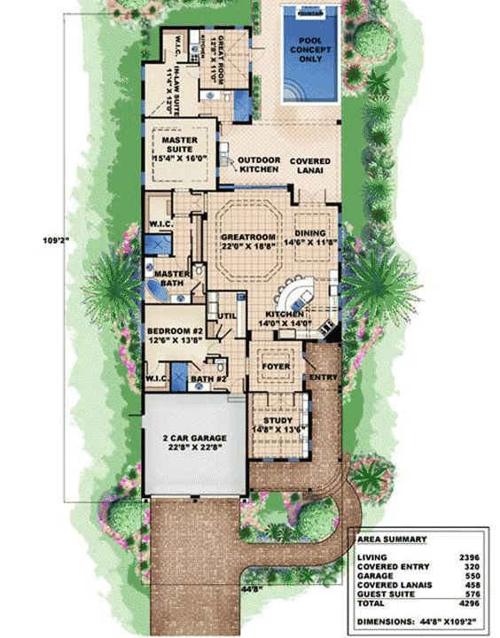 Narrow lot beach house plans the image for Coastal home plans for narrow lots