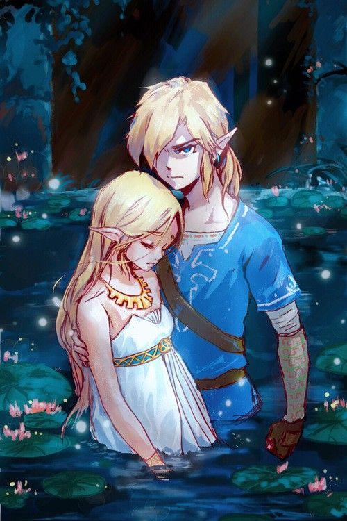 Legend Of Zelda Breath Of The Wild Art Link And Princess Zelda Botw Jiaozichen081 Legend Of Zelda Breath Legend Of Zelda Zelda Art