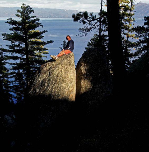 Lake Tahoe bouldering guidebook author Dave Hatchett.