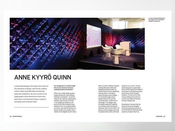 Interview with Sound Materials author: emphasising the importance of acoustics in spatial contexts - News - Frameweb