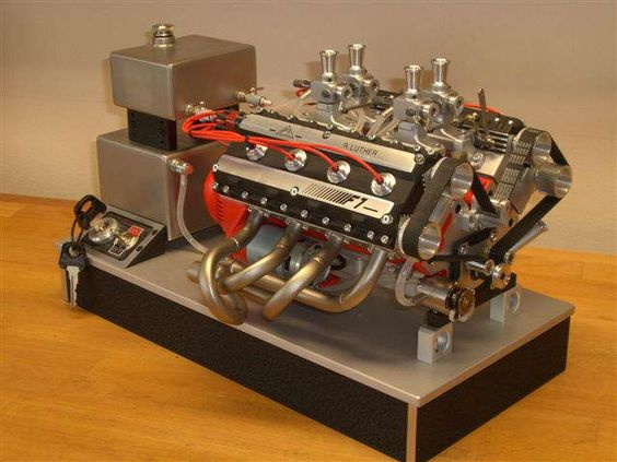 dohc 76cc v8 built by rolf luther engineering. Black Bedroom Furniture Sets. Home Design Ideas