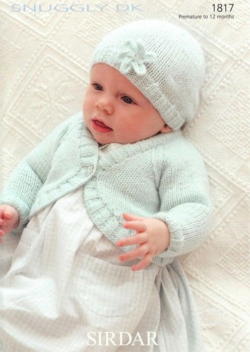 Sirdar--Bolero Cardigan and Hat (preemie through 1 year) | Stuff to ...