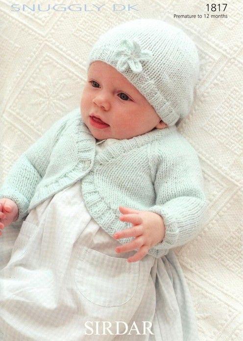 Sirdar--Bolero Cardigan and Hat (preemie through 1 year) | Stuff to ...