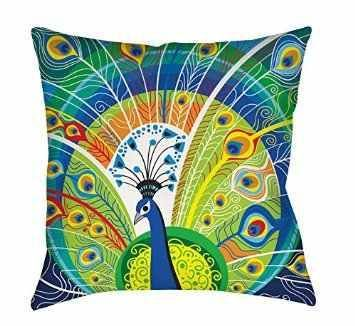 allthingspeacock.com - Peacock Throw Pillows