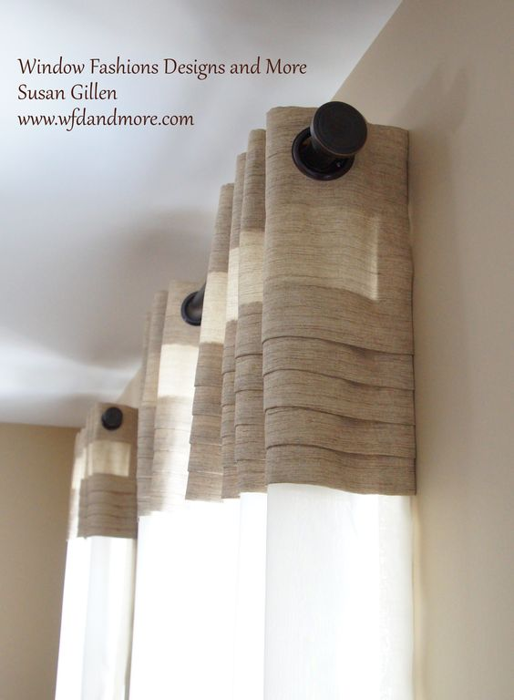 Beautiful sheer grommet panel with attached pleated valance creates a light airy look and feel for that custom style on any window.
