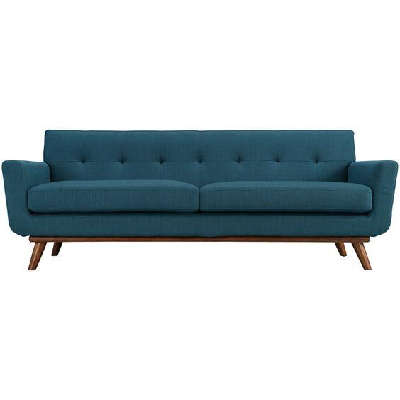 Emory Upholstered Sofa Azure
