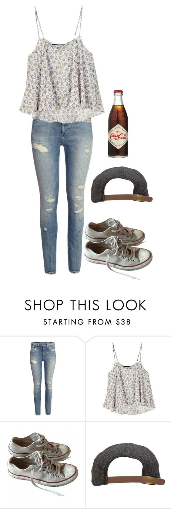 """Sandlot OC Meeting the boys"" by frozenivoryheart ❤ liked on Polyvore featuring H&M, For Love & Lemons, Converse and Goorin"