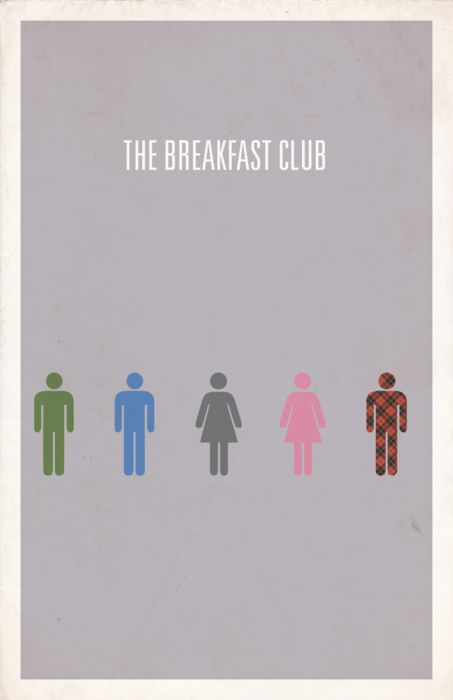 The Breakfast Club by Hunter Langston: Poster Design, The Breakfast Club, Minimalist Movie Posters, Minimal Movie, Movieposters Posters, Posterdesign 80Smovies, Minimalist Poster, Breakfastclub Movieposters, Movies Movieposters