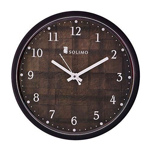 Amazon Brand Solimo 12 Inch Wall Clock Checkered Silent Movement Black Frame Wall Clock Clock Vintage Wall Clock