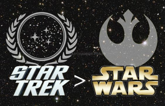 Star Trek > Star Wars...my brother is obsessed with both!