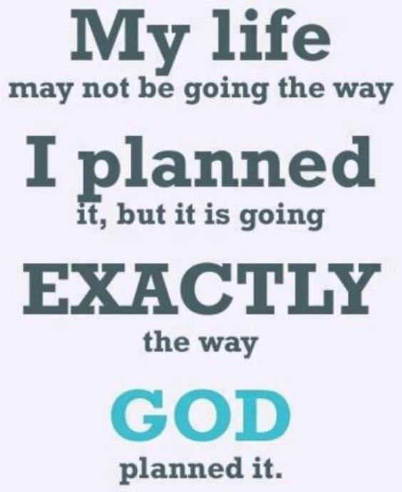 God planned it...