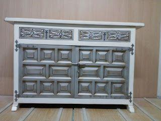 El rincon del mueble restauraci n taquillon castellano - Muebles pintados en plata ...