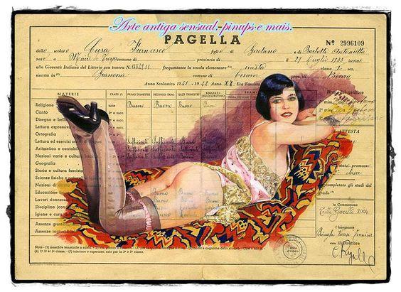 Arte antiga sensual, pinups e mais. | portfólio - Titti Garelli.