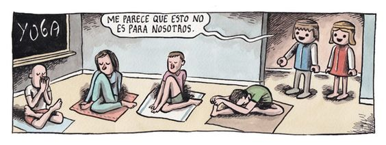 Image result for spanish yoga cartoons