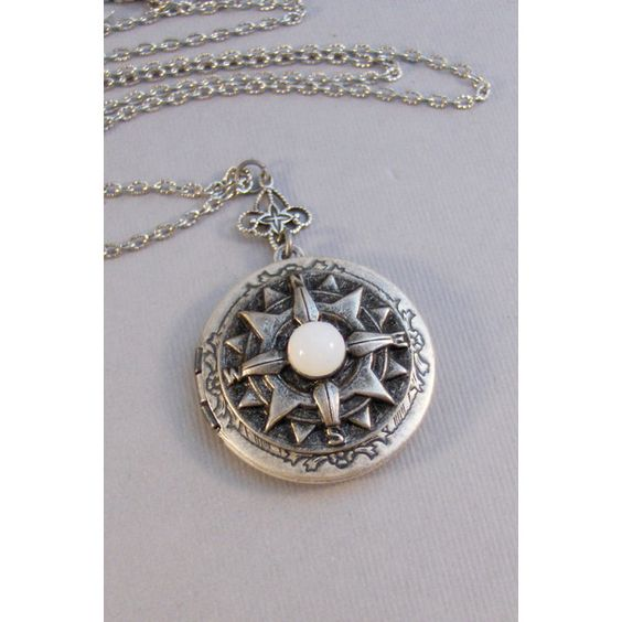 SALE Moonstone Compass,Locket,Antique Locket,Silver... ($27) ❤ liked on Polyvore featuring jewelry, vintage jewelry, vintage silver jewelry, antique jewellery, vintage moonstone jewelry and vintage jewellery