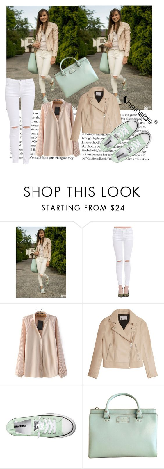 """Sheinside 1/III"" by aneela-57 ❤ liked on Polyvore featuring T By Alexander Wang, Converse and Kate Spade"
