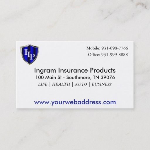 Insurance Agent 3 5 X 2 0 100 Pack White Business Card