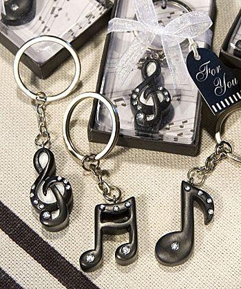 Porte clés note de musique pour cadeaux d'invités - Musical Note Key Chain Favors-Musical Note Key Chain Favors