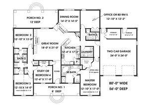 House Plan 1776 00079 Traditional Plan 2 550 Square Feet 4 Bedrooms 3 Bathrooms 5 Bedroom House Plans Bedroom House Plans European House Plans