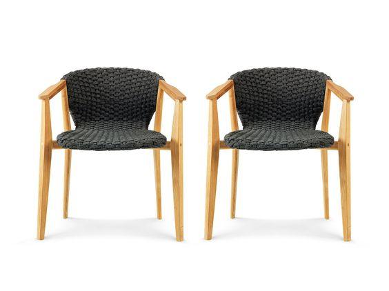 Sedie dalani ~ Set di sedie in polipropilene nero cm dalani home