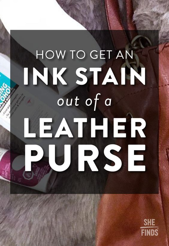 How To Get An Ink Stain Out Of A Leather Purse Remove From Removal