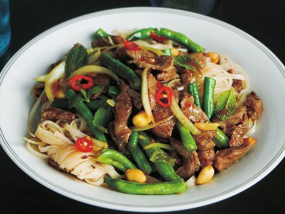 This quick and tasty lamb and noodle stir-fry is packed full of goodness and beautiful Thai flavours. This delicious Asian dish makes a great mid-week family dinner.
