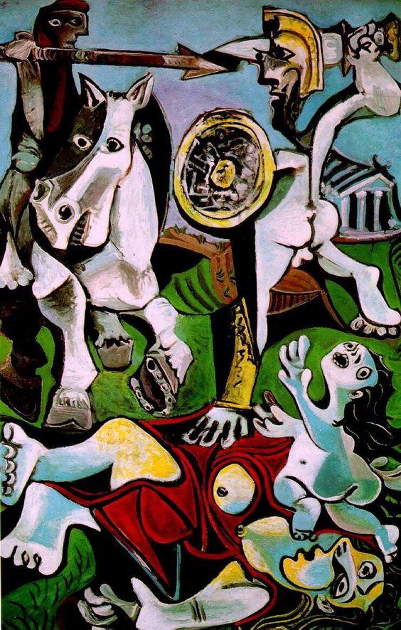 """""""EI rapto de las Sabinas"""", Pablo Picasso:"""