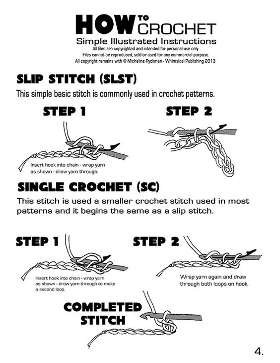 How to Crochet - Page 4 ✿⊱╮Teresa Restegui http://www.pinterest.com/teretegui/✿⊱╮