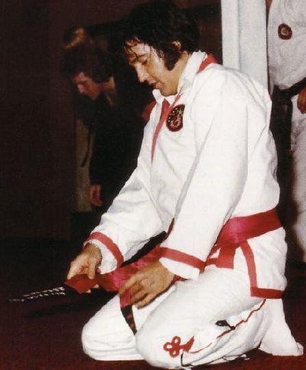Elvis Presley doing Karate
