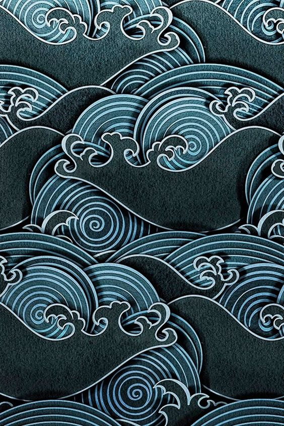 Japanese patterns inside of shapes -- a corner cropping of the item-- like the mount figi painting -- I can show you examples in my sketchpad