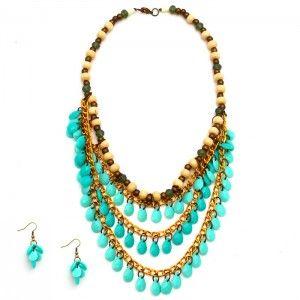 Collar Capas Verde Menta Tienda online de accesorios para mujer accesorios aretes collares