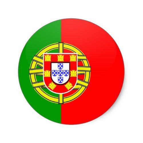 Portugal Quality Flag Circle Classic Round Sticker Zazzle Com Round Stickers Custom Stickers Flag