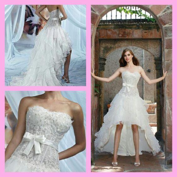 Wedding dress high low
