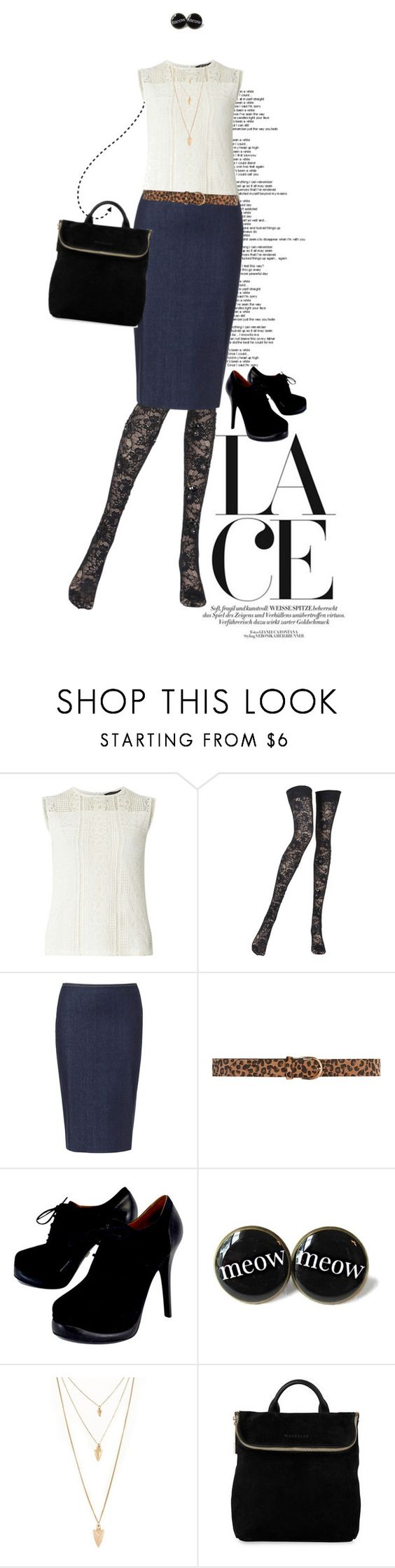 """Lace"" by dawn-scott ❤ liked on Polyvore featuring Dorothy Perkins, Pierre Mantoux, Zara, Pour La Victoire and Forever 21"