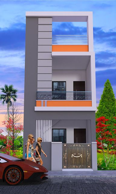 12x45 House With 3d Elevation By Nikshail In 2020 Small House Elevation Design Small House Front Design House Outer Design