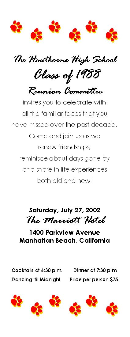 class reunion program template - class reunion ideas high school class reunion planning