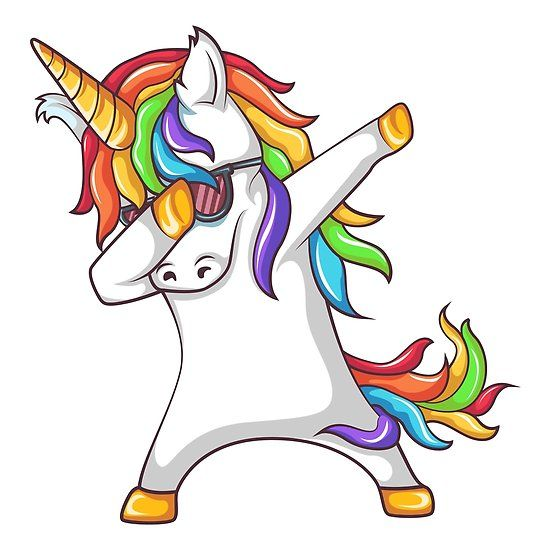 Dabbing Unicorn Unicorn Stickers Unicorn Pictures Art Inspiration Drawing