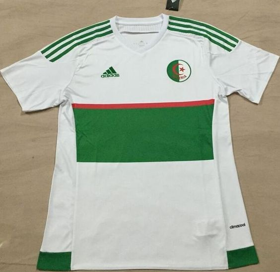 2016 Algeria Home and Away Thaiand Short Sleeves Soccer Jersey