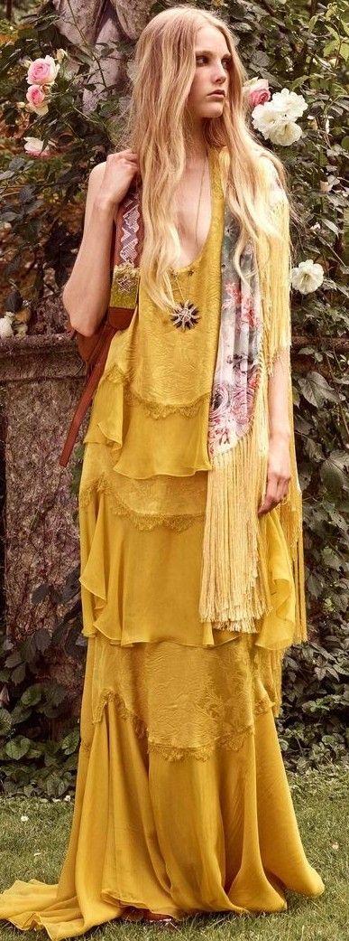 Golden Бо Maxi рокля: