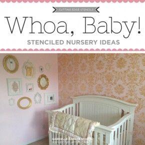 Cutting Edge Stencils shares DIY stenciled nursery ideas. http://www.cuttingedgestencils.com/nursery-stencils-walls.html